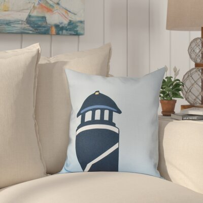 Hancock Safe Harbor Geometric Print Outdoor Throw Pillow Size: 18 H x 18 W, Color: Navy Blue