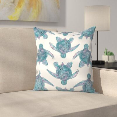 Jetty Printables Tribal Turtle Pattern Throw Pillow Size: 18 x 18
