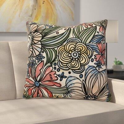 Natahsa Zentangle Floral Euro Pillow Color: Purple