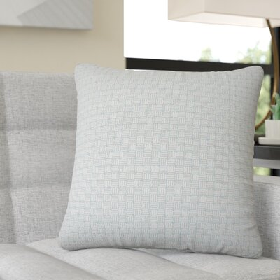 Quintanar Geometric Throw Pillow Color: Aqua
