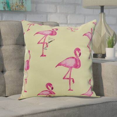 Carmack Print Throw Pillow Color: Green, Size: 16 x 16