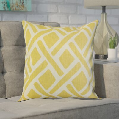 Moton Linen Throw Pillow Color: Sunflower, Size: 18x18