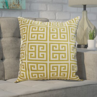 Blevins 100% Cotton Throw Pillow Color: Village Green Natural, Size: 22 x 22