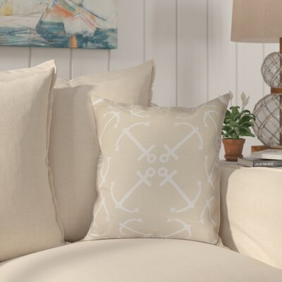 Hancock Anchor's Up Geometric Print Outdoor Throw Pillow Size: 18