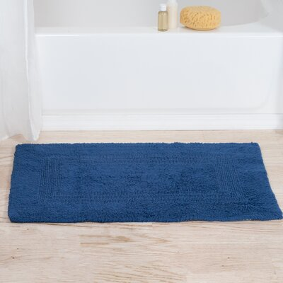 Helmuth Tufted Cotton Bath Rug Color: Blue