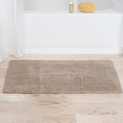 Helmuth Tufted Cotton Bath Rug Color: Taupe