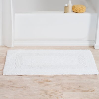 Helmuth Tufted Cotton Bath Rug Color: White