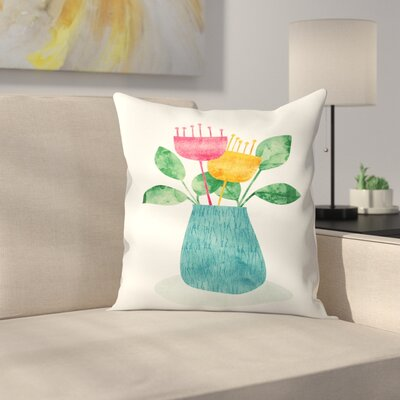 Bouquet Throw Pillow Size: 14 x 14