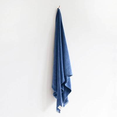 Stonewash Bath Sheet Color: Indigo