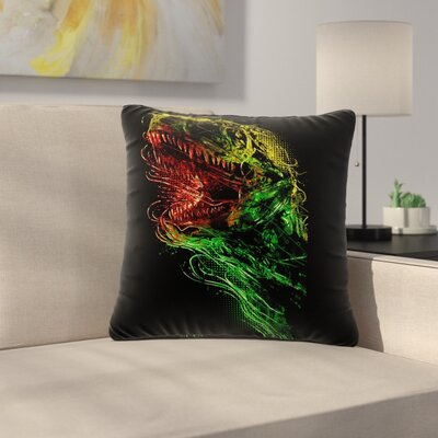BarmalisiRTB Killing Machine Digital Outdoor Throw Pillow Size: 18 H x 18 W x 5 D