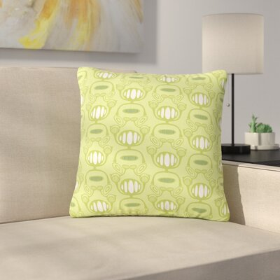 Holly Helgeson Flower Power Pattern Outdoor Throw Pillow Size: 16 H x 16 W x 5 D