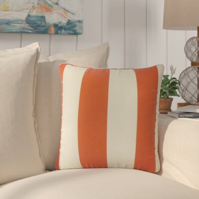 Lozier Striped Throw Pillow Color: Orange