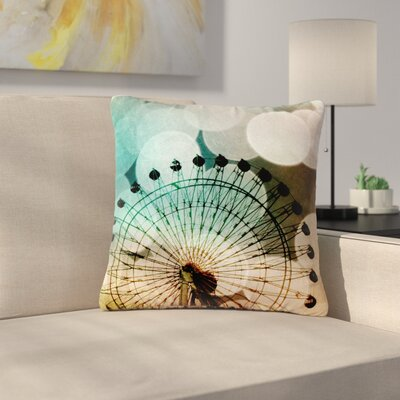 Sylvia Coomes Ferris Wheel Silhouette Outdoor Throw Pillow Size: 16