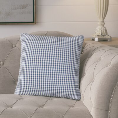 Bergmann Plaid Cotton Throw Pillow Color: Navy