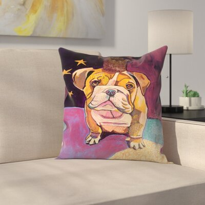 English Bull Dog Jpg Throw Pillow Size: 14 x 14