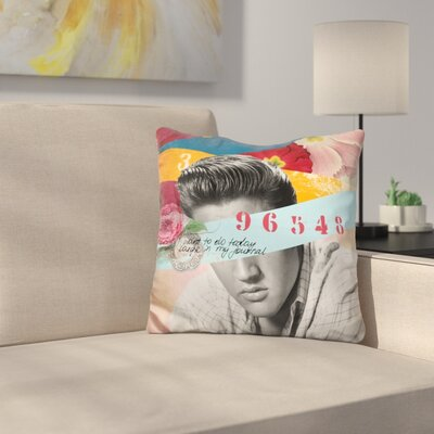 Elvis Throw Pillow