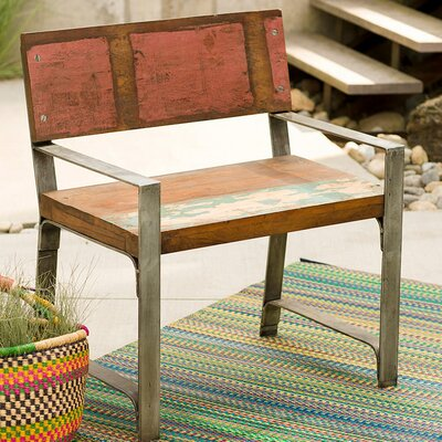Croce Reclaimed Wood Iron Framed Armchair