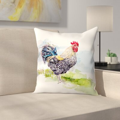 Cockerel 1 Throw Pillow Size: 20 x 20