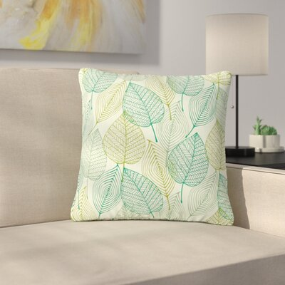 Make Like a Tree Pattern Outdoor Throw Pillow Size: 18 H x 18 W x 5 D