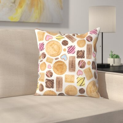 Elena ONeill Sweets and Biscuits Throw Pillow Size: 20 x 20