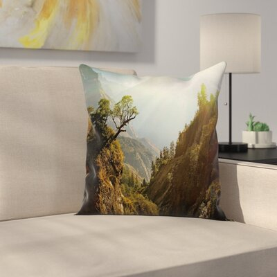 Modern Landscape Square Pillow Cover Size: 18 x 18