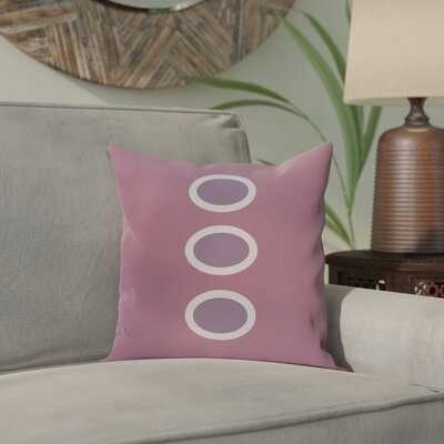 Katrina Geometric Throw Pillow Size: 18 H x 18 W, Color: Purple / Purple