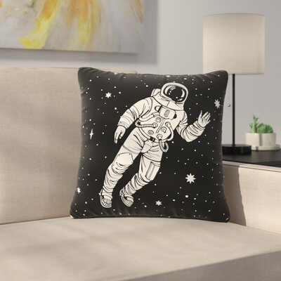 Space Adventurer Fantasy Outdoor Throw Pillow Size: 16 H x 16 W x 5 D