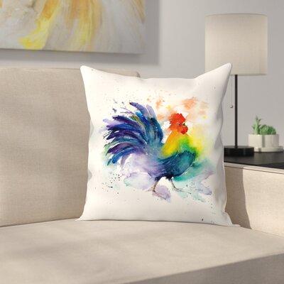 Cock A Doodle Doo Throw Pillow Size: 16 x 16