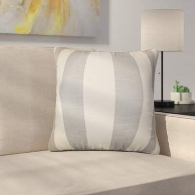 Strauser Stripes Cotton Throw Pillow Color: Gray