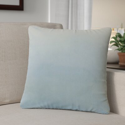 Theriault Solid Cotton Throw Pillow Color: Sky Blue
