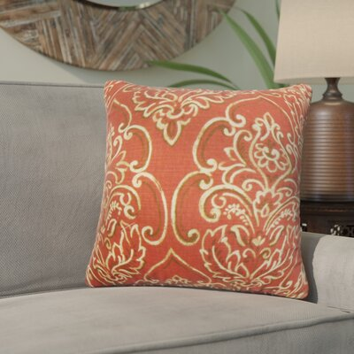 Wendi Floral Cotton Throw Pillow Color: Red