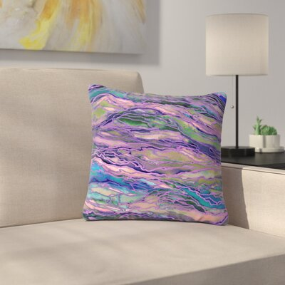 Marble Idea! Throw Pillow Size: 18 H x 18 W x 6 D, Color: Lavender / Pink