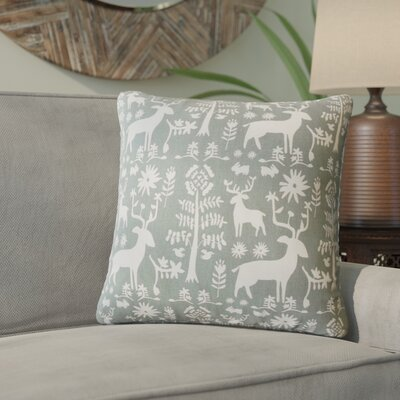 Venito Modern Animal Print Cotton Throw Pillow Color: Gray