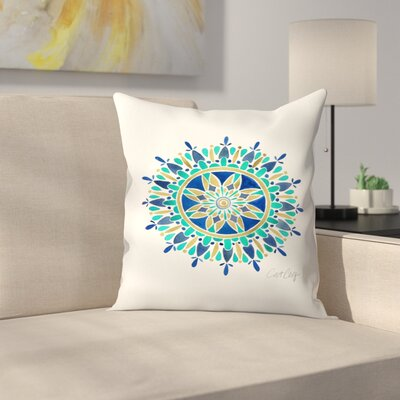 Mandala Throw Pillow Size: 18 x 18
