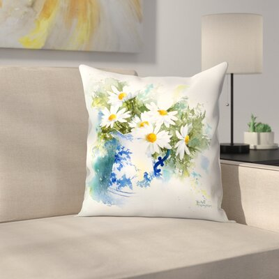 Daisies Throw Pillow Size: 16 x 16