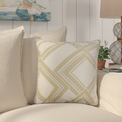 Marton Geometric Cotton Throw Pillow Color: Brown