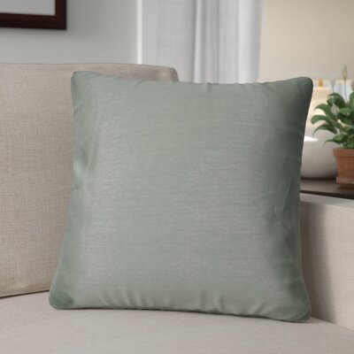 Kiera Square Throw Pillow Color: Steel Gray