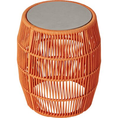 Volta Outdoor End Table Table Base Color: Orange Cord