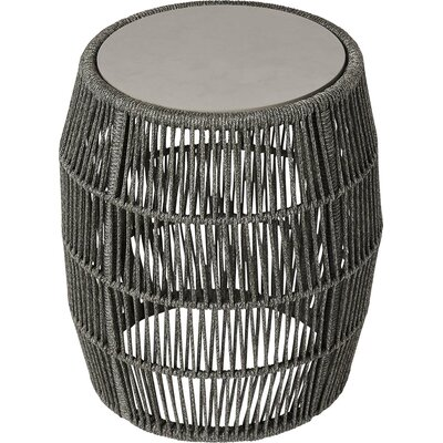 Volta Outdoor End Table Table Base Color: Shades of Gray Cord