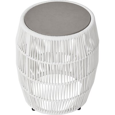 Volta Outdoor End Table Table Base Color: White Cord