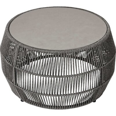 Volta Outdoor Coffee Table Table Base Color: Shades of Gray Cord