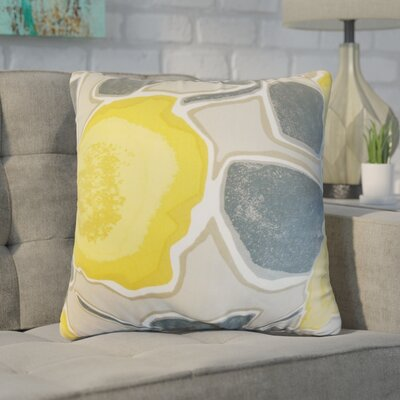 Yelena Geometric Cotton Throw Pillow Color: Gray