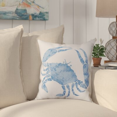 Boubacar Crab Throw Pillow Size: 26 H x 26 W, Color: Blue