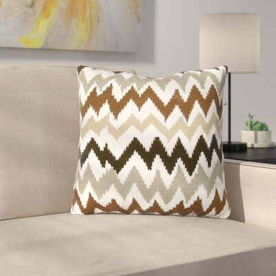Lucinda Charla Cotton Pillow Cover Color: Brown