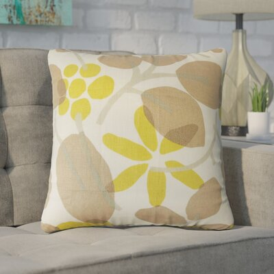Goodyear Floral Cotton Throw Pillow