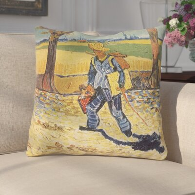 Zamora Self Portrait Square Throw Pillow Size: 16 x 16