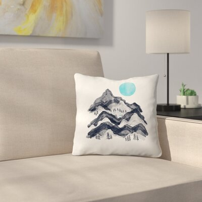 Sun In Moon Lake Throw Pillow Size: 20