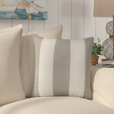 Lozier Striped Throw Pillow Color: Gray