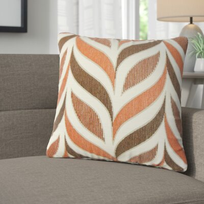Mariyah Geometric Throw Pillow Color: Coral