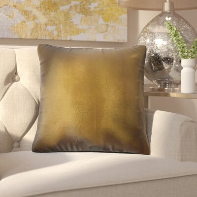 Huang Glam Solid Down Filled Throw Pillow Size: 24 x 24